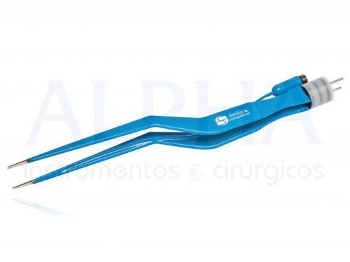 Pinça bipolar baioneta para irrigação 18 cm