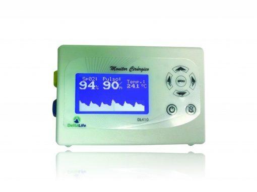 Monitor cirúgico DL-410 veterinário com temperatura