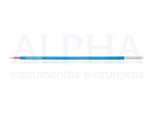Eletrodo tipo colorado ponta agulha reta - Corpo ø 2,38mm x 120mm - Ponta em tungstênio ø 10mm