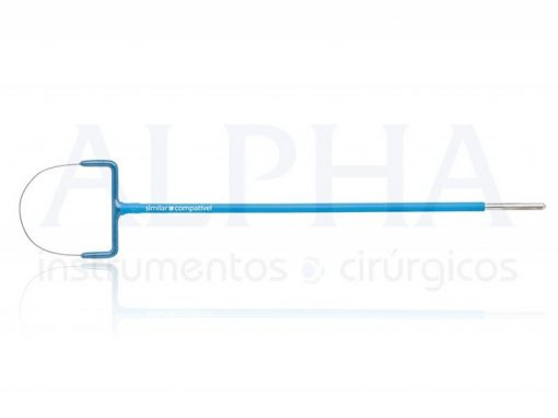 Eletrodo ponta alça leep oval - Corpo ø 1,80mm x 120mm - Ponta de tungstênio ø 0,2mm x 25 x 15mm