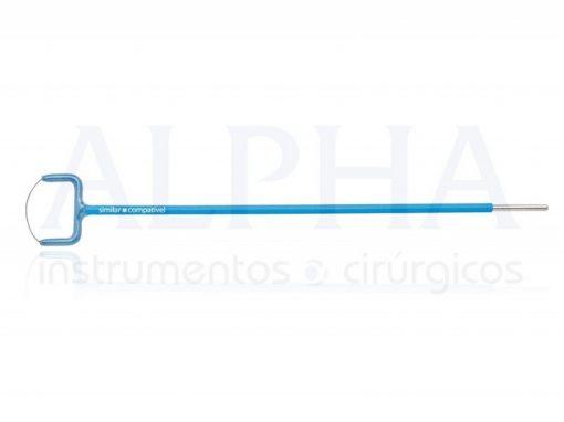 Eletrodo ponta alça leep oval - Corpo ø 1,80mm x 120mm - Ponta de tungstênio ø 0,2mm x 15 x 4mm