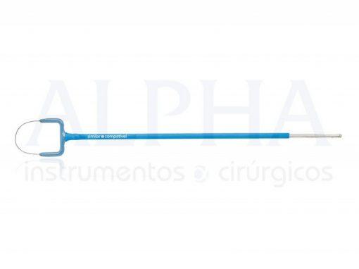 Eletrodo ponta alça leep oval - Corpo ø 1,80mm x 120mm - Ponta de tungstênio ø 0,2mm x 15 x 10mm