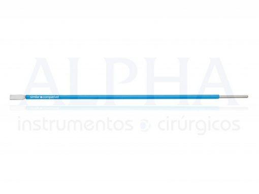 Eletrodo para otorrino ponta faca reta - Corpo ø 1,60mm x 120mm
