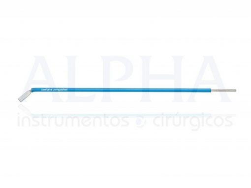 Eletrodo para otorrino ponta faca curva - Corpo ø 1,60mm x 120mm