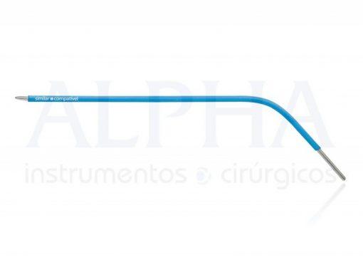 Eletrodo para otorrino ponta agulha romba curva esquerda - Corpo ø 1,60mm x 120mm