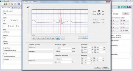 Monitor Multiparamétrico USB - DL 950 VET