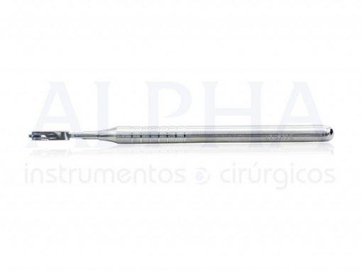 Cabo de bisturi para 2 lâminas paralelas 2,0mm