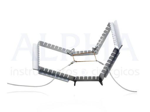 Afastador autoestático mini - bi-articulado com 8 ganchos