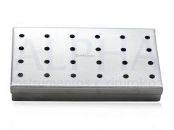 Estojo de inox 14x08x02cm perfurado