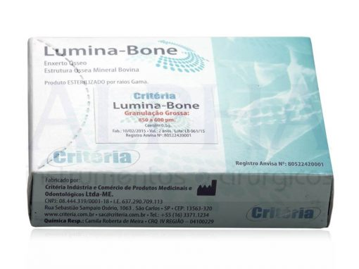 Osso para enxerto Lumina Bone 0,5g - Grossa