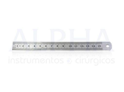 Régua de inox 15cm