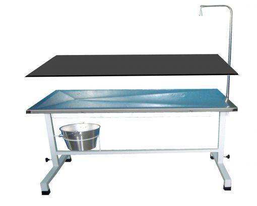 mesa cirúrgica regulável com pés esmaltados