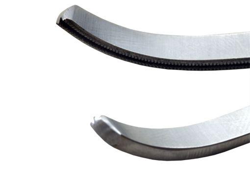 Pinça Glover 9cm curva atraumática