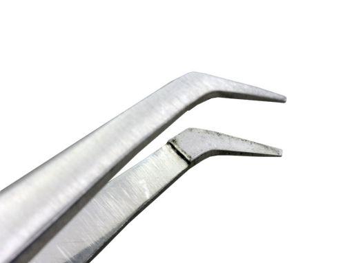 Pinça Microcirurgia Angulada 13cm