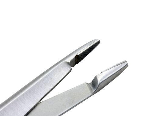 Porta agulha Olsen Hegar 12cm com ponta de videa