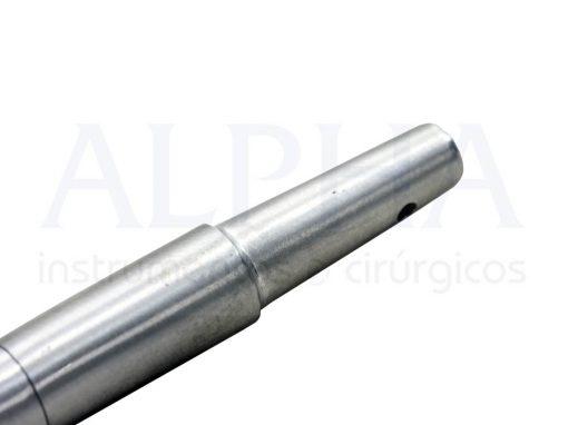 Sugador cirúrgico metálico em aço inox