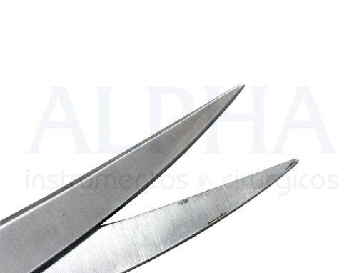 Tesoura cirúrgica fina fina curva 15cm