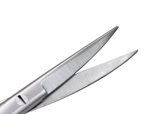 Tesoura Iris curva ponta fina 11cm com faceta