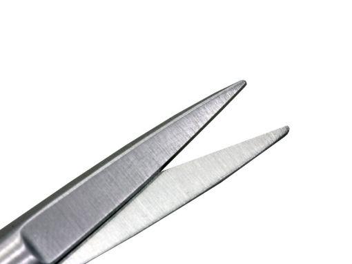 Tesoura Iris Reta com Faceta Ponta Fina 12cm Ribbon
