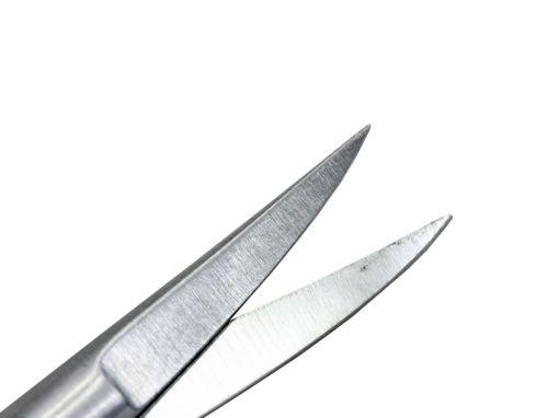 Tesoura Iris curva com faceta ponta fina 9 cm ribbon