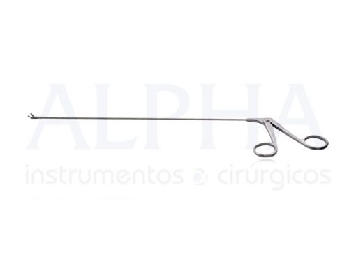 Pinça De Micro Laringe Sacabocado Angulada Esquerda