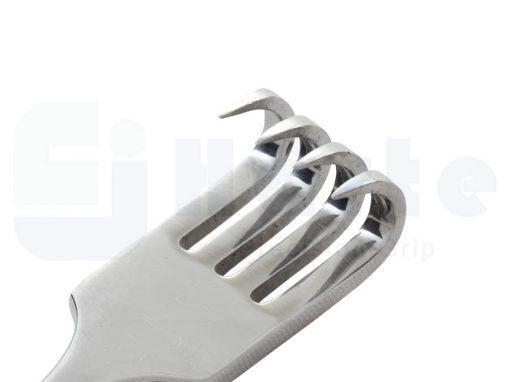 Afastador volkman para ortopedia 21cm 4 garras agudo