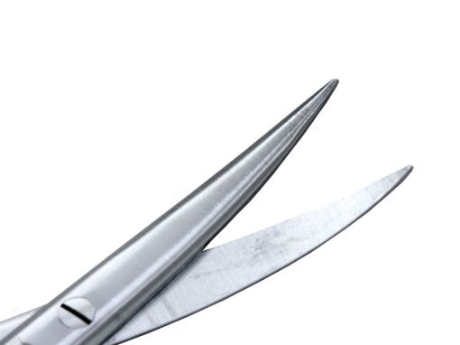 Tesoura Iris Sem Faceta Curva Ponta Fina 11cm