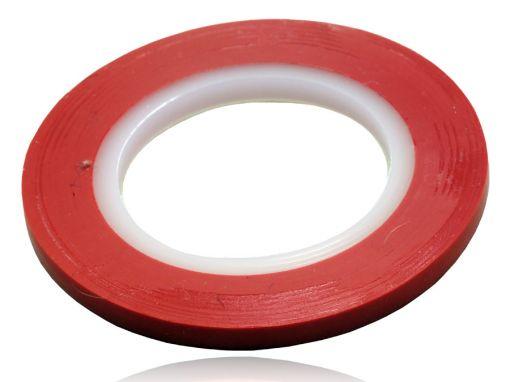 Rolo De Fita Colorida 3,17mm Vermelho Embalagem Com 1 Rolo