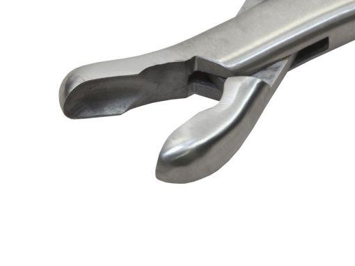 Pinça Goiva Luer Curva 18cm