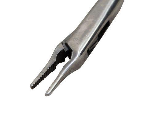 Pinça de Micro Laringe Jacaré Reta