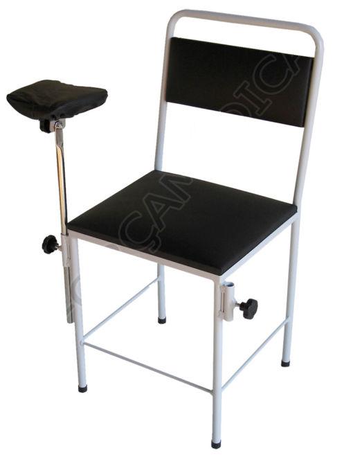Cadeira Simples Estofada Com 1 Braço Estofado Adaptado 2 Lados