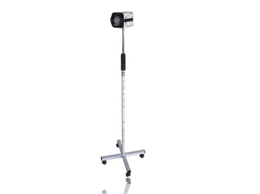 Refletor Auxiliar Com Haste Flexível Spot Esmaltada Com Lâmpada LED Quadripe Com Rodízio