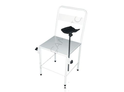 Cadeira Simples Esmaltada Com 1 Braçadeira Estofada Adaptada 2 Lados
