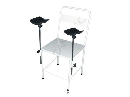 Cadeira Simples Esmaltada Com 2 Braçadeiras Estofadas