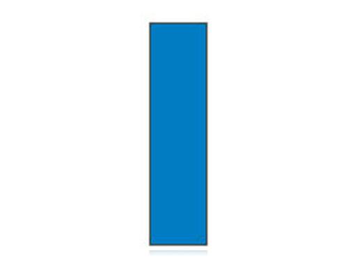 Fita Em Folha Colorida Azul 6mm