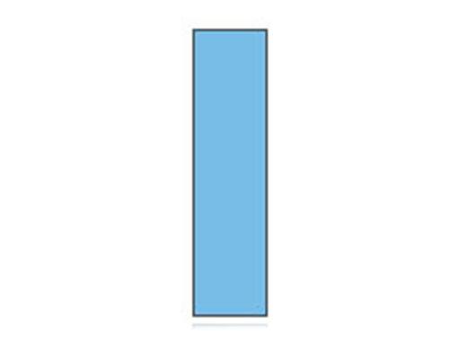 Fita Em Folha Colorida Azul Claro 6mm