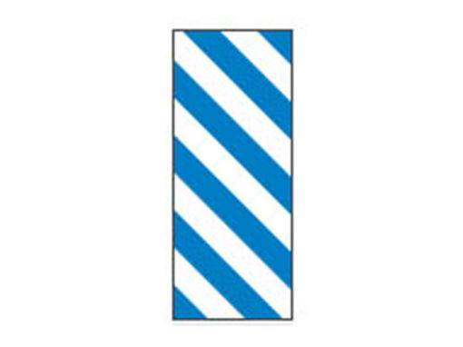 Fita Em Folha Colorida Branco/Azul Listrado 6mm