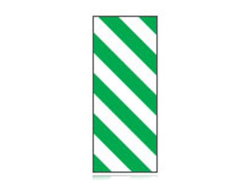 Fita Em Folha Colorida Branco/Verde Listrado 6mm