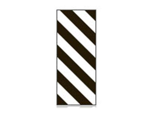 Fita Em Folha Colorida Branco/Preto Listrado 6mm