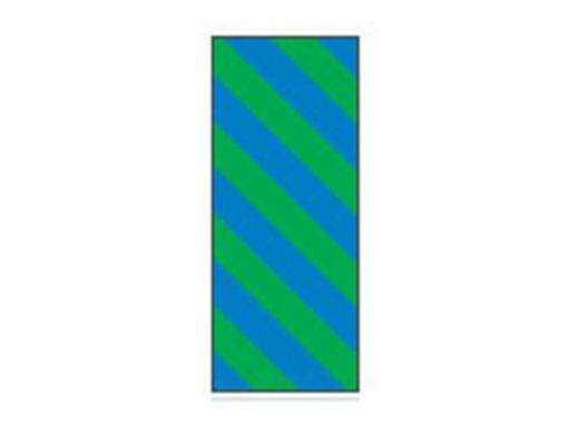 Fita Em Folha Colorida Azul/Verde Listrado 6mm