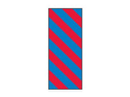 Fita Em Folha Colorida Azul/Vermelho Listrado 6mm