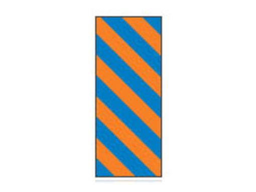 Fita Em Folha Colorida Azul/Laranja Listrado 6mm