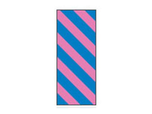Fita Em Folha Colorida Azul/Rosa Listrado 6mm