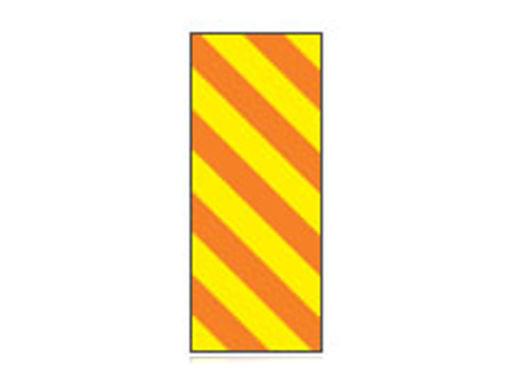 Fita Em Folha Colorida Amarela/Laranja Listrado 6mm