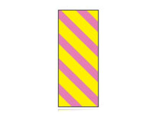 Fita Em Folha Colorida Amarelo/Rosa Listrado 6mm