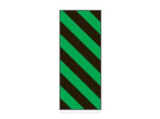 Fita Em Folha Colorida Preto/Verde Listrado 6mm