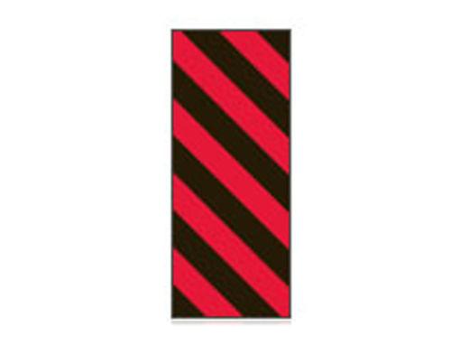 Fita Em Folha Colorida Preto/Vermelho Listrada 6mm