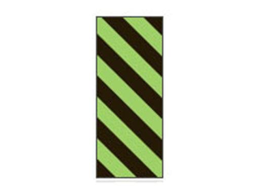 Fita Em Folha Colorida Preto/Verde Limão Listrado 6mm
