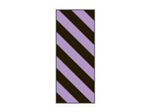 Fita Em Folha Colorida Preto/Lilás Listrado 6mm