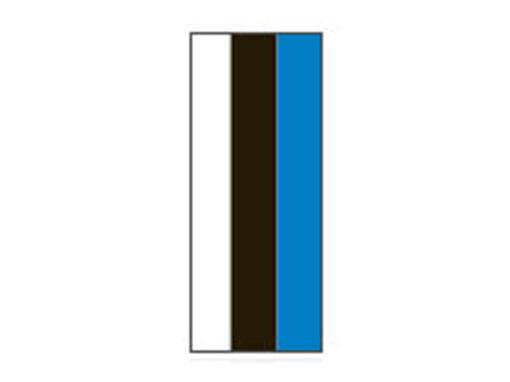 Fita Em Folha Colorida Branco/Preto/Azul 6mm